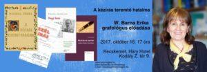 W. Barna Erika előadása - 2017.10.16.